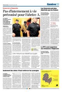 2015-11-18 La RTS veut supprimer ses émissions religieuses (TdG)
