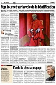 2015-11-21 Suppression des émissions religieuses – l'onde de choc se propage (La Liberté)
