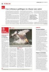 2015-11-25 La tyrannie de l'argent et de la rentabilité, par ML Kraft Golay (Journal du Jura)