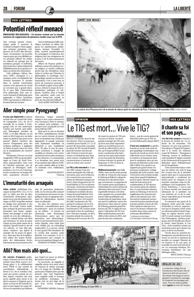 2015-12-02 Potentiel réflexif menacé (La Liberté)
