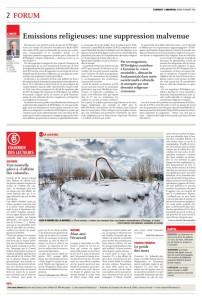 2016-01-19 Emissions religieuses une suppression malvenue, par JA Maire (L'Express)
