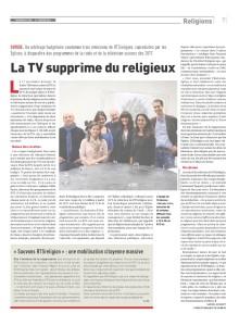 2016-01-23 La TV supprime du religieux (Reforme)