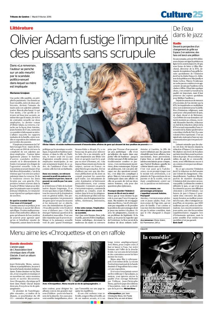 2016-02-09 De l'eau dans le jazz (Tribune de Genève)
