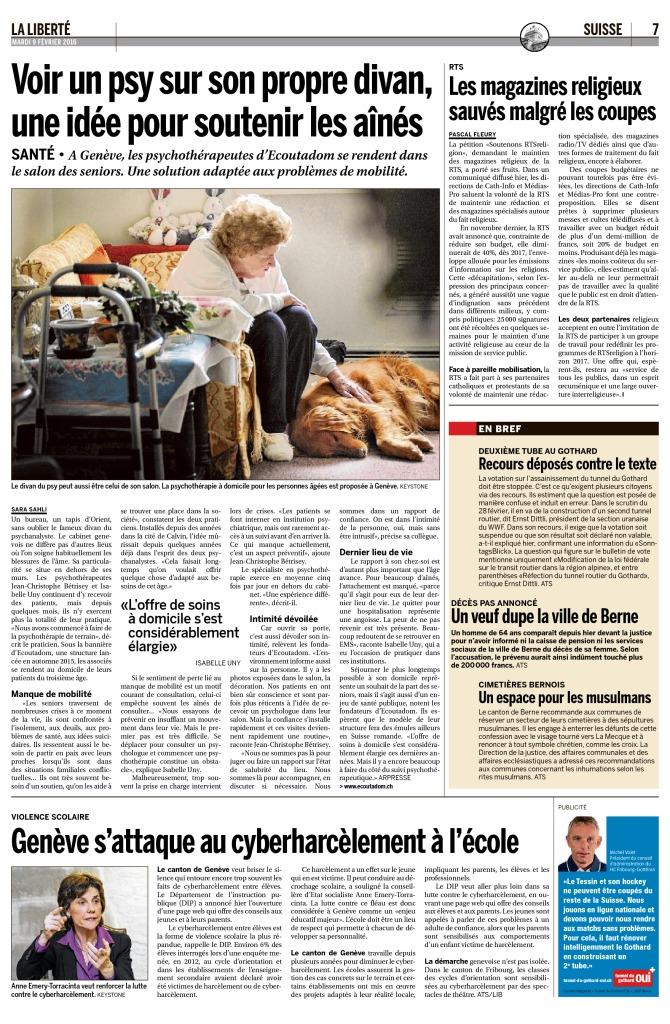 2016-02-09 Les magazines religieux sauvés malgré les coupes (La Liberté)