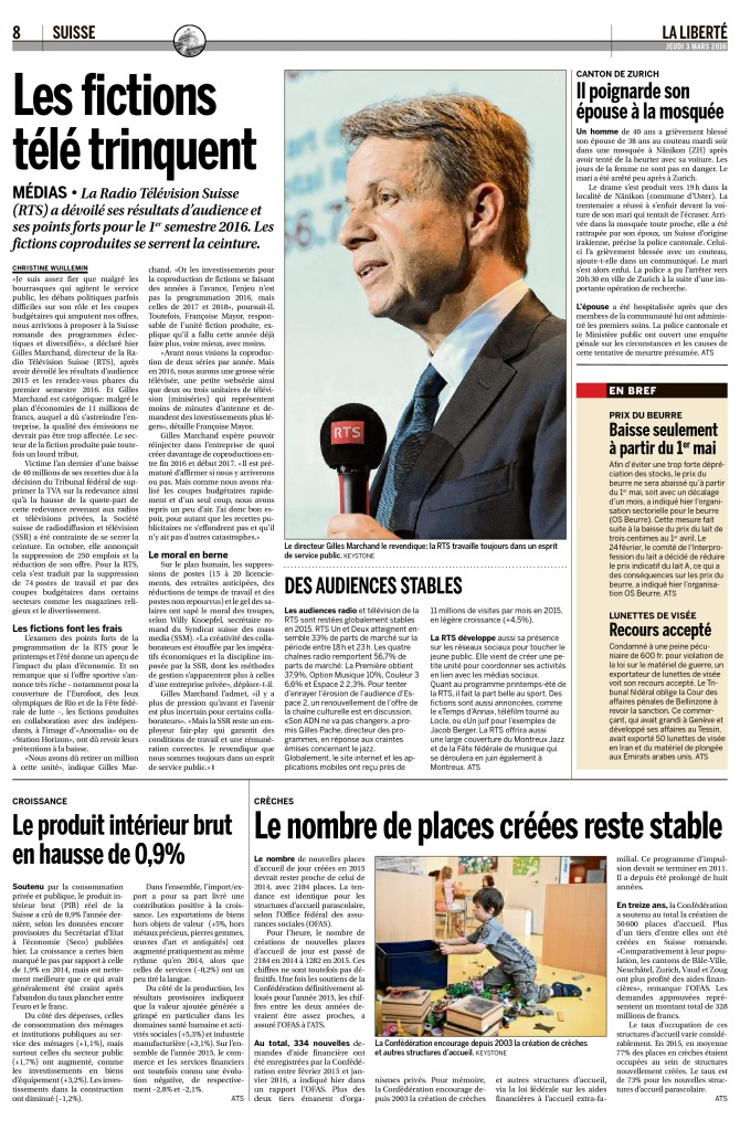 2016-03-03 Les fictions télé trinquent (La Liberté)