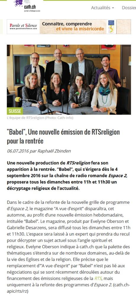 thumbnail of 2016-07-06 Babel une nouvelle emission de RTSreligion pour la rentree cath.ch
