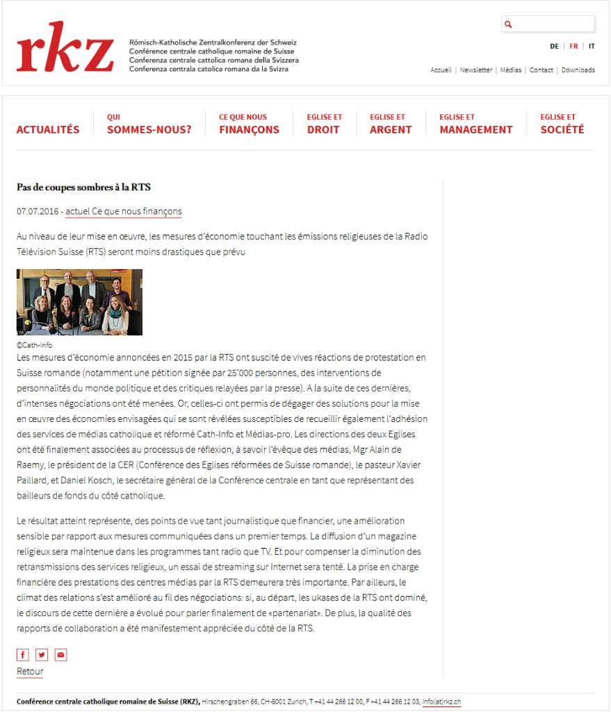 thumbnail of 2016-07-07 Pas de coupes sombres à la RTS (RKZ.ch)