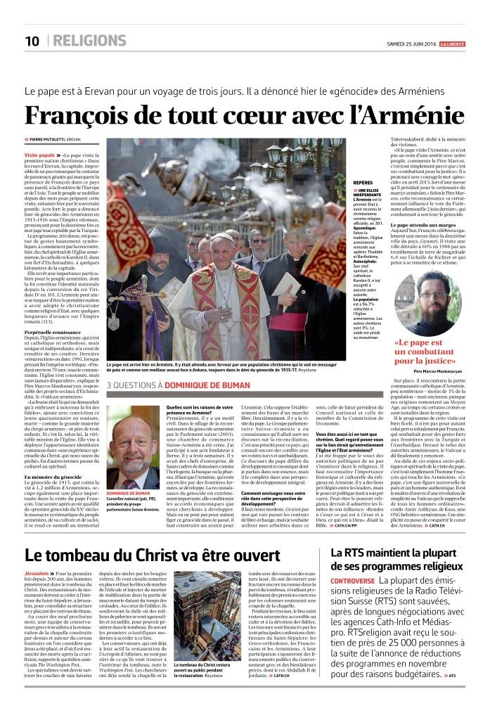 thumbnail of 2016-06-25 La RTS maintient la plupart de ses programmes religieux (La Liberté)
